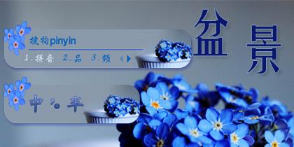 蓝色·盆景